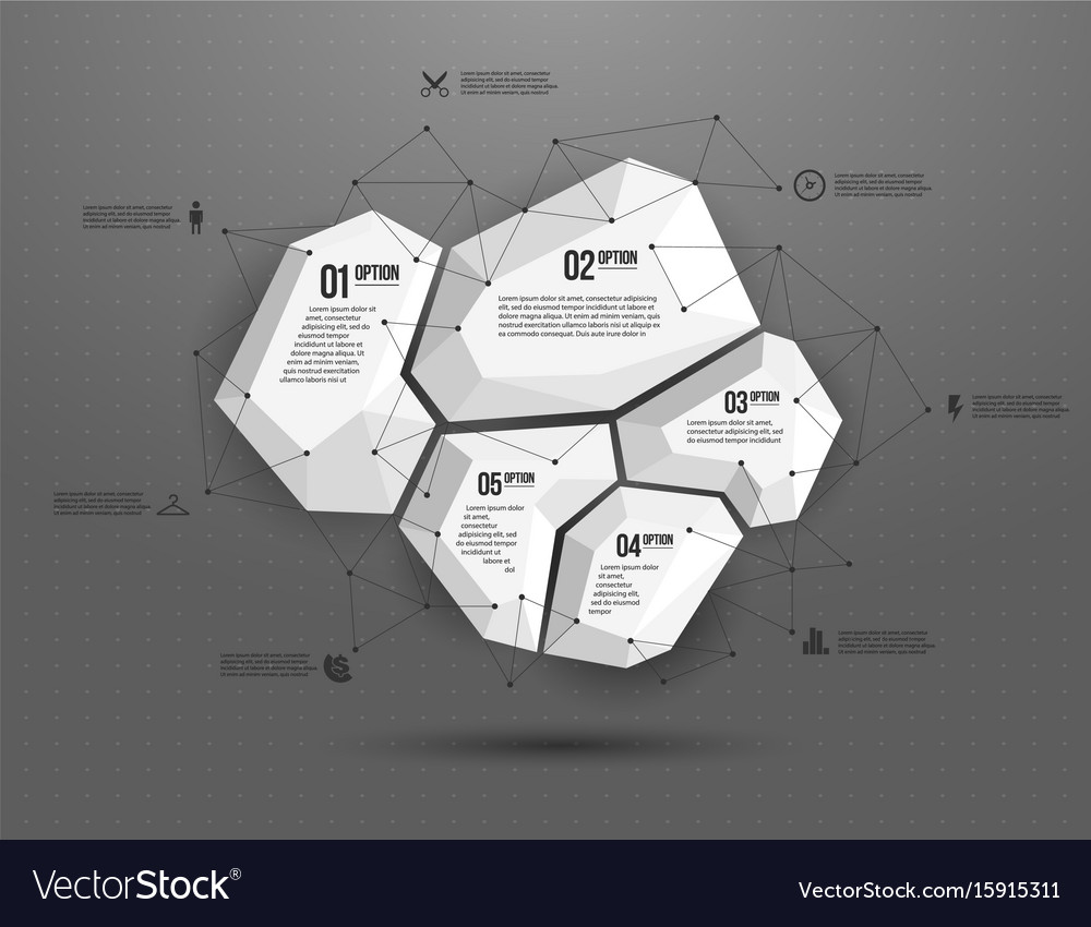 Abstract geometric layout for presentation