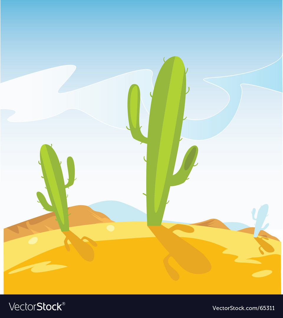 Cactus plants vector image