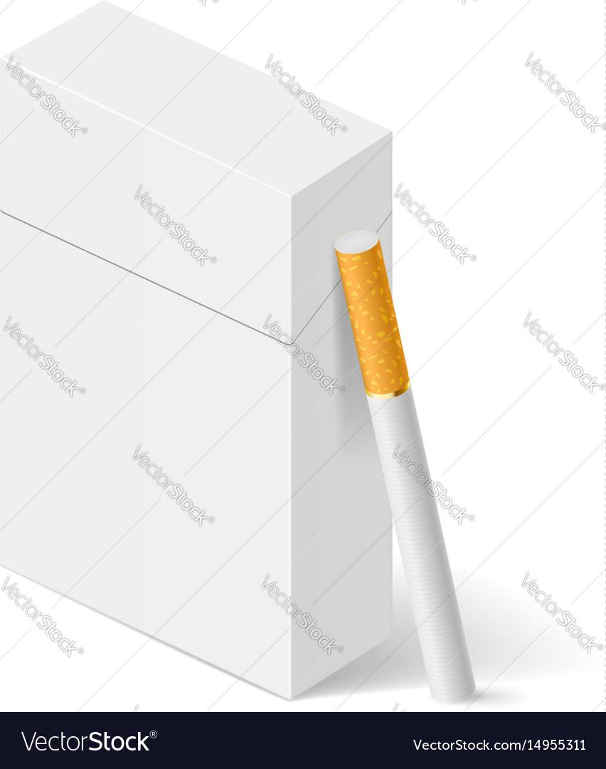 Closed full pack of cigarettes concept design