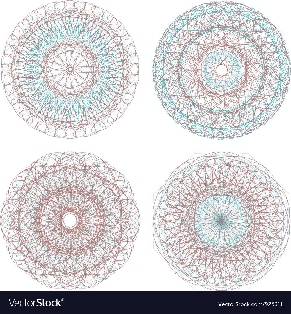 Guilloche pattern vector image