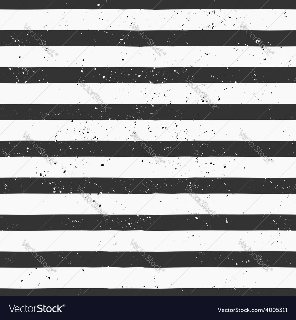 Hand drawn black and white stripe seamless pattern