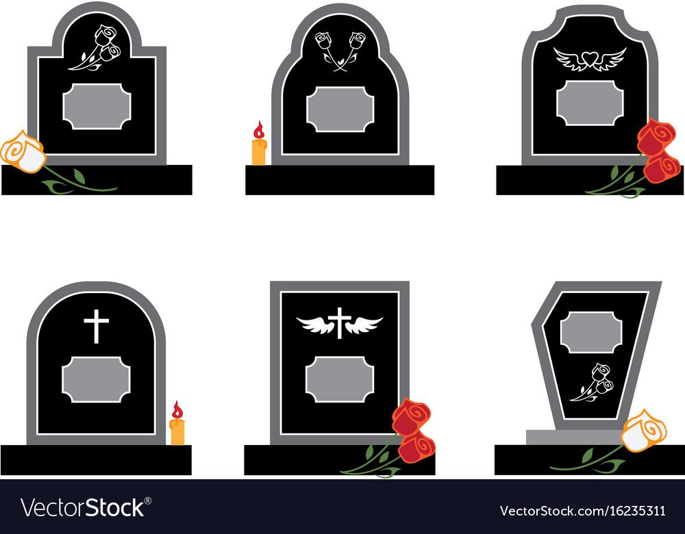 Headstone vector image