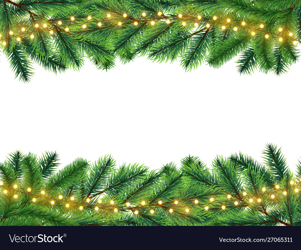 Holidays background with realistic fir branches