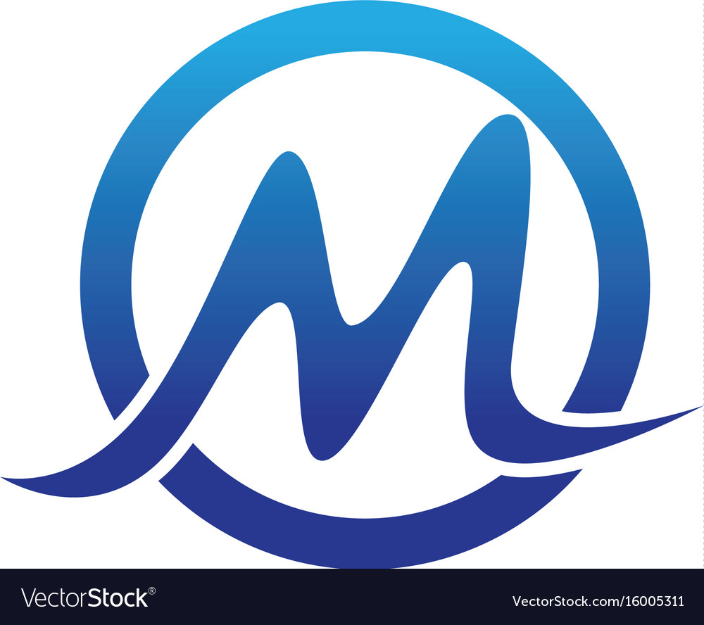 M Letters Logo And Symbols Vector Image
