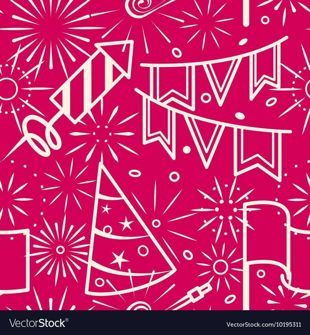 Pink party celebration seamless background