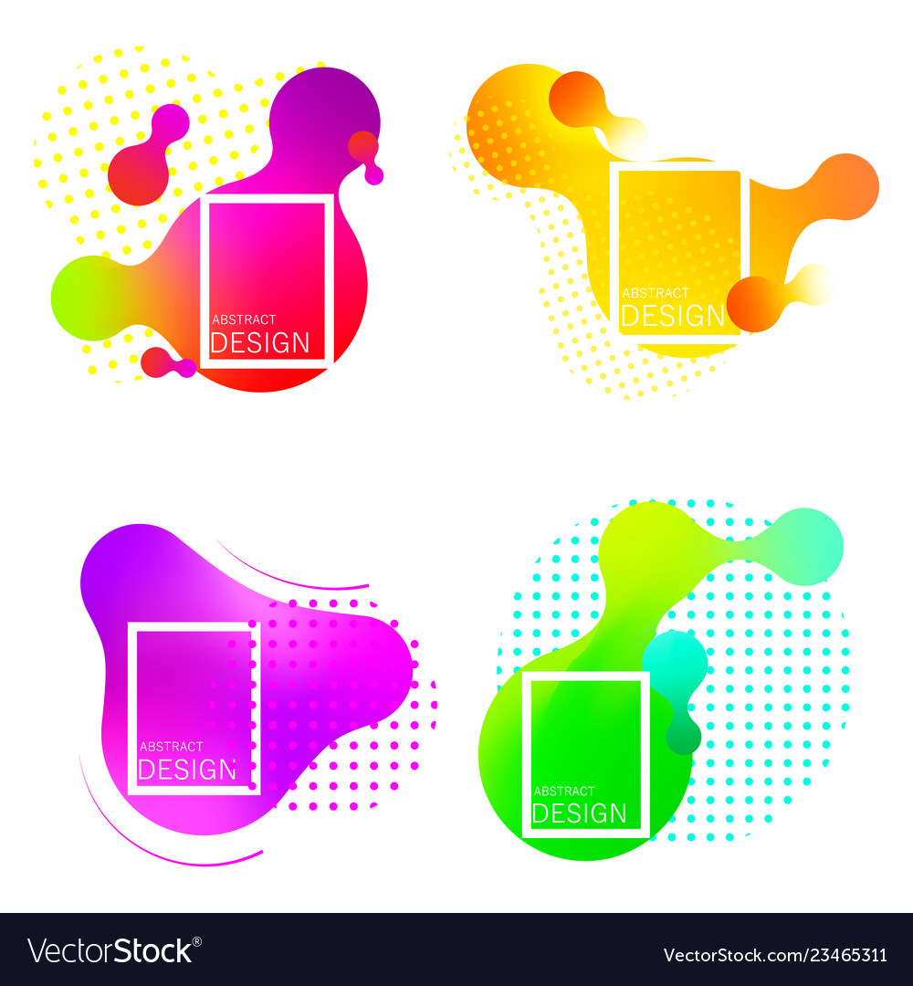 Set of colorful elements gradient abstract