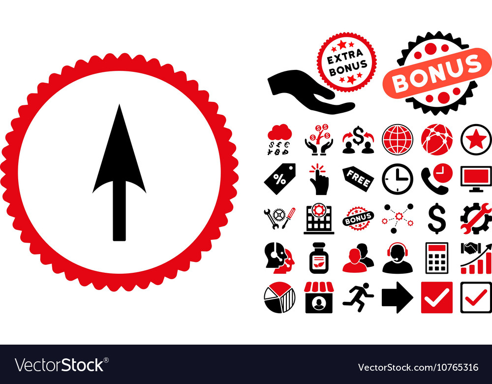Arrow Axis Y Flat Icon with Bonus