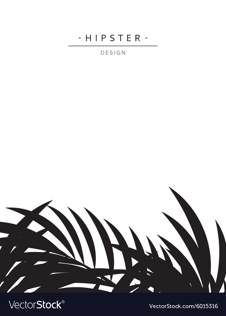 Exotic background with gray palm leave for design