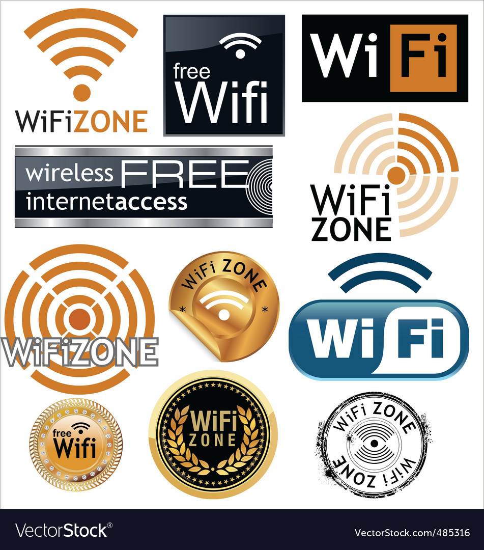Free wifi zone signs