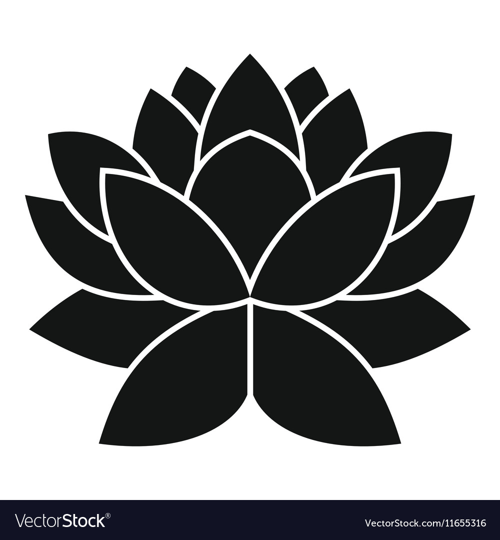 Lotus flower icon simple style royalty free vector image lotus flower icon simple style vector image izmirmasajfo