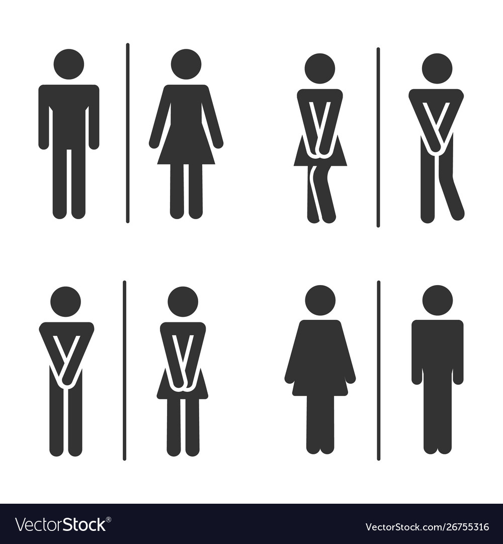 male and female bathroom
