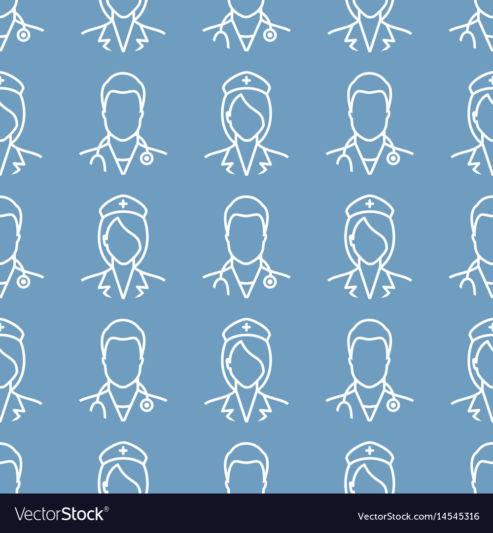Nurse and doctor pattern