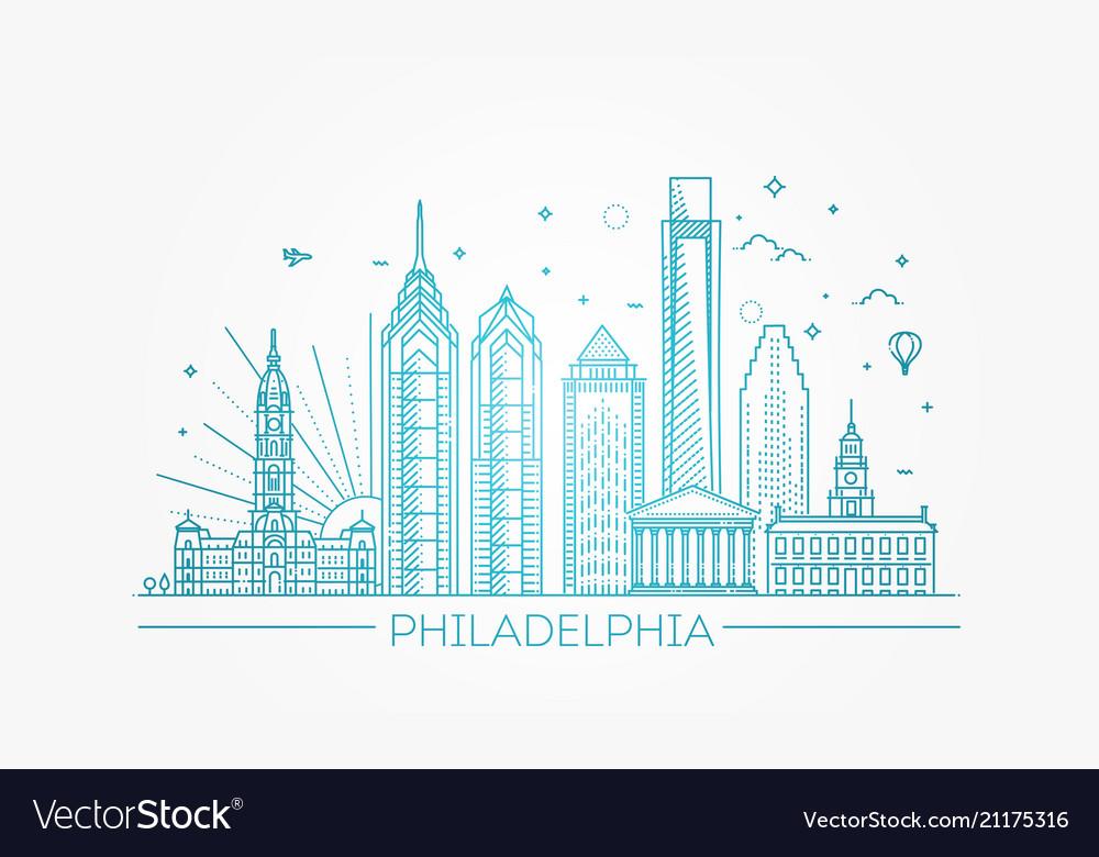 Philadelphia pennsylvania usa skyline