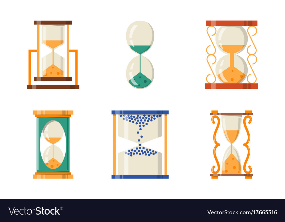 Sandglass icon time flat design history second old