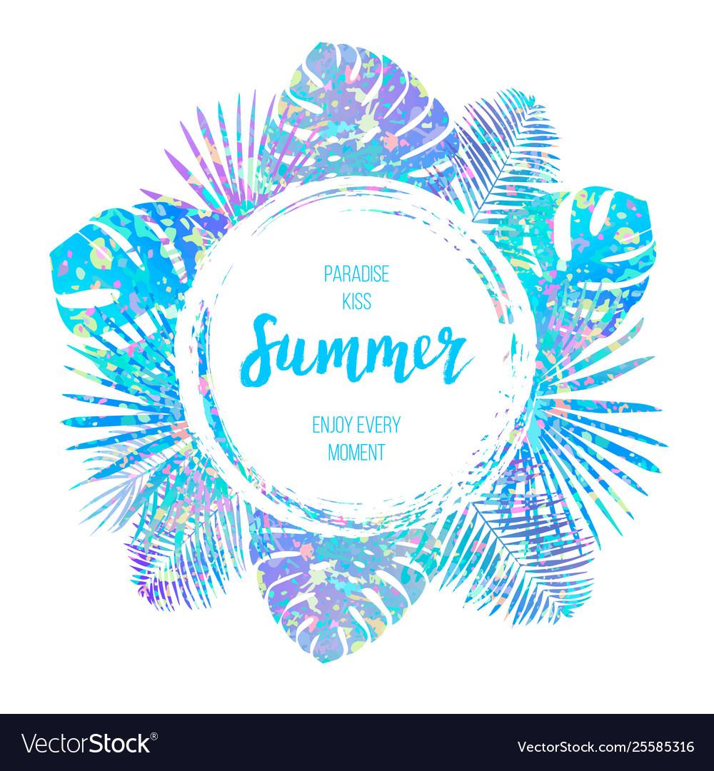 Summer tropical design for banner or flyer