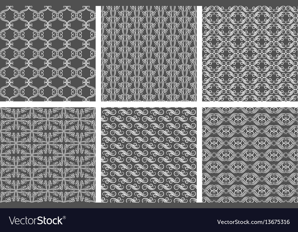 Swirly wallpaper textures flourish vector image