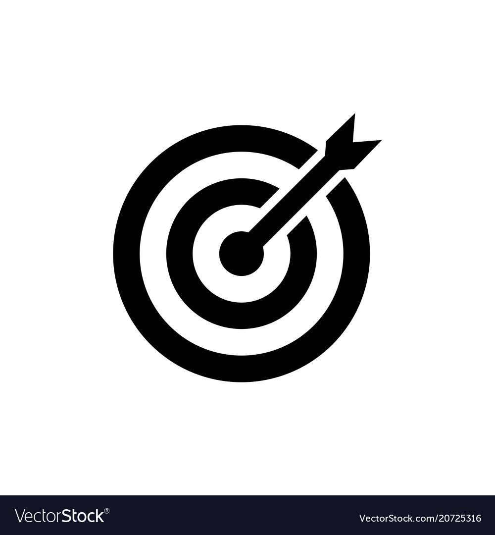 Target icon in flat style aim ...