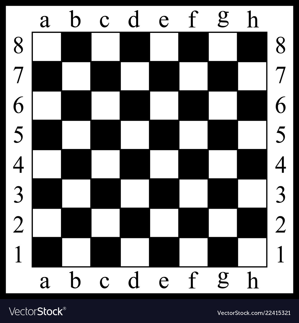 A chessboard white and bla