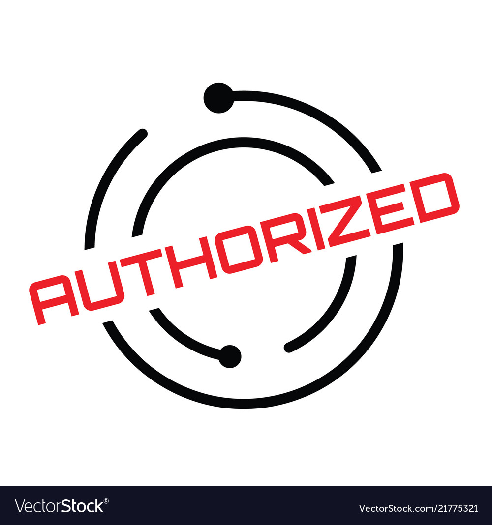 Authorized rubber stamp vector image on VectorStock
