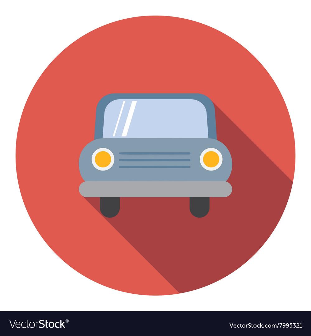 Car icon flat style