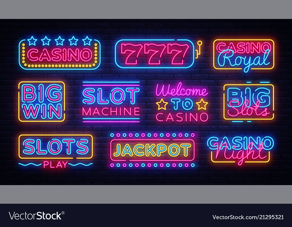 Casino collection neon signs design