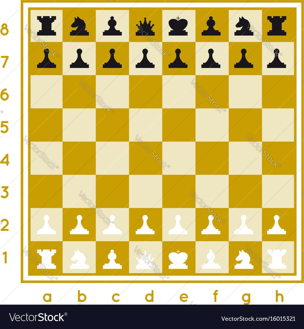 Chess set on white background