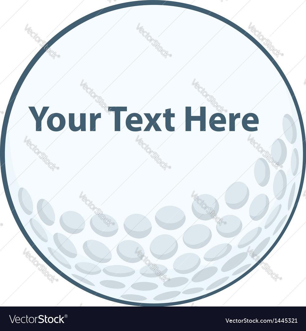 Golf Ball Sign vector image