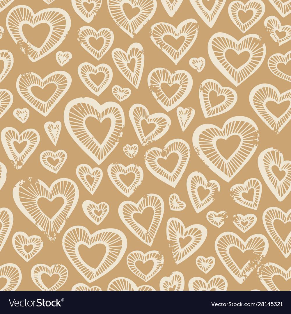 Hand drawn seamless pattern decorative stylized