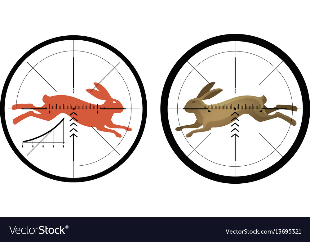 Hunting icon reticle crosshair target symbol