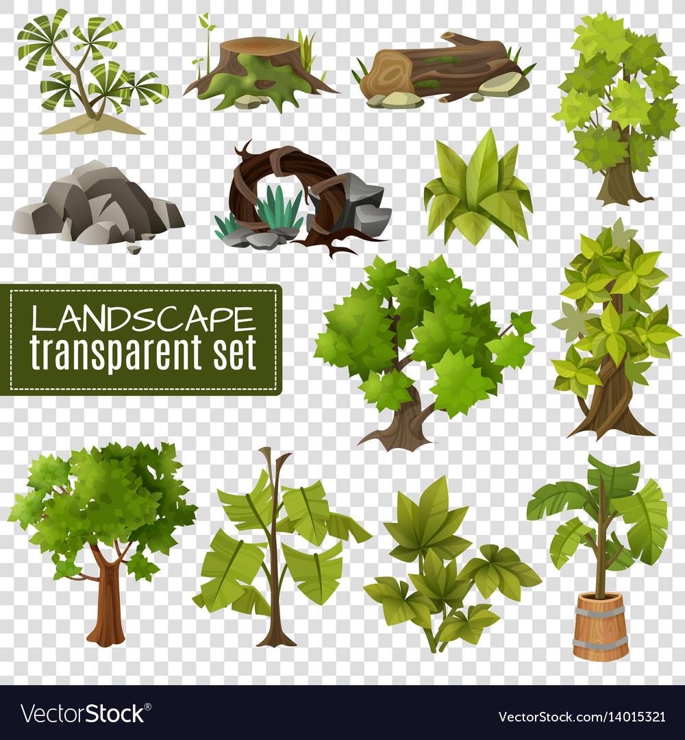 Landscape design elements set vector image