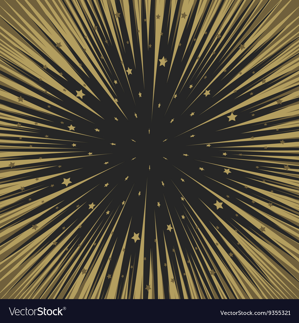 Shooting stars background Flying meteorites