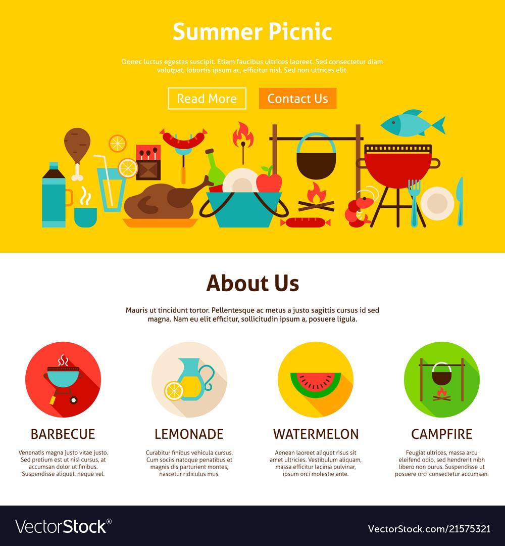 Summer picnic web design