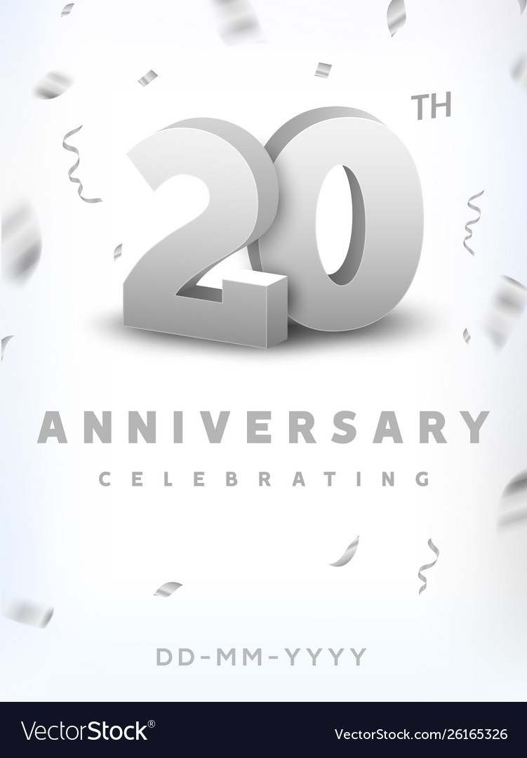20 years silver number anniversary celebration