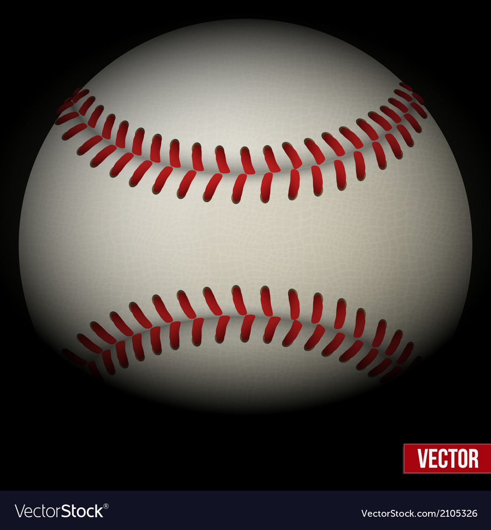 Background of baseball leather ball Various sides