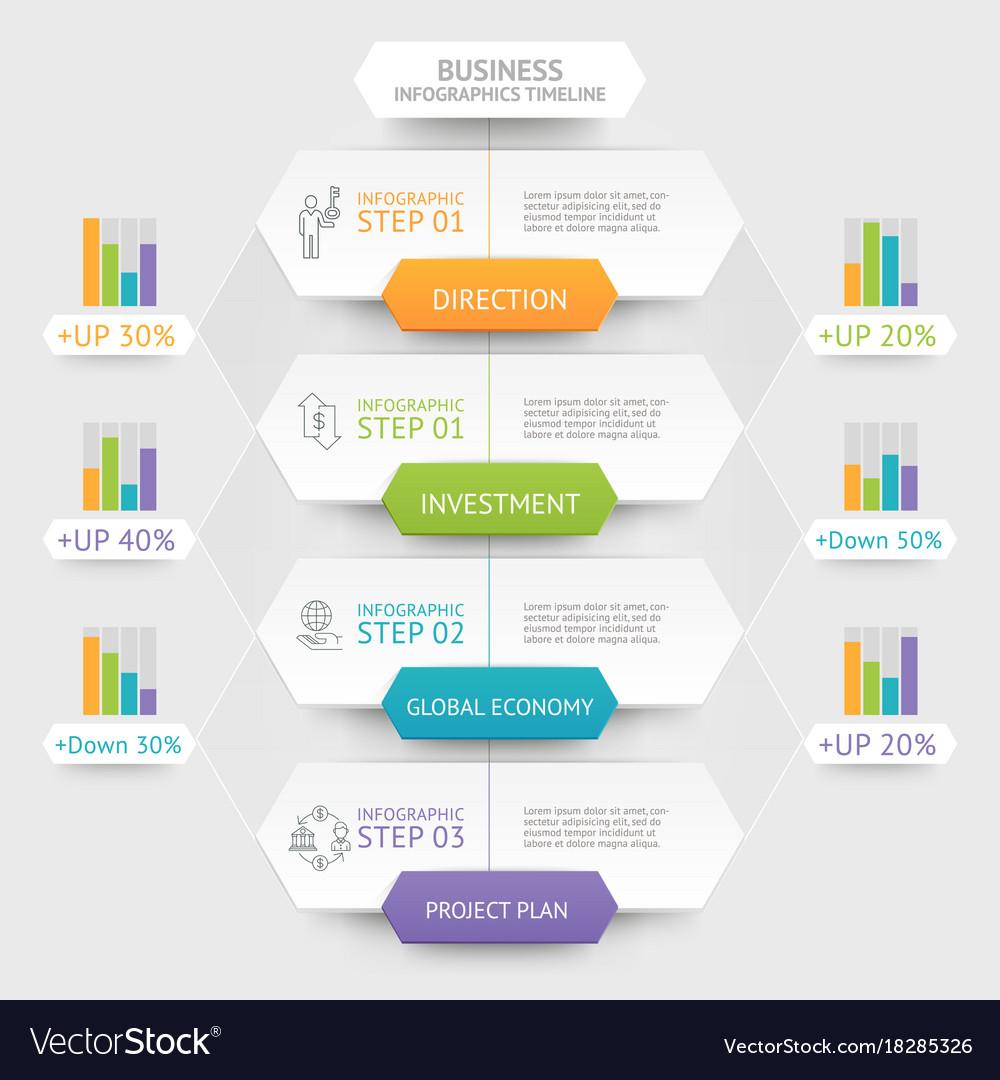 Business hexagon infographics template