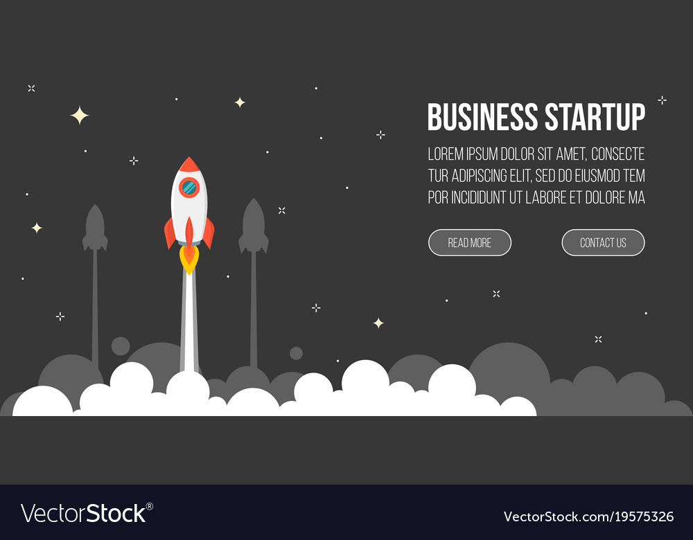 Business startup template for banner