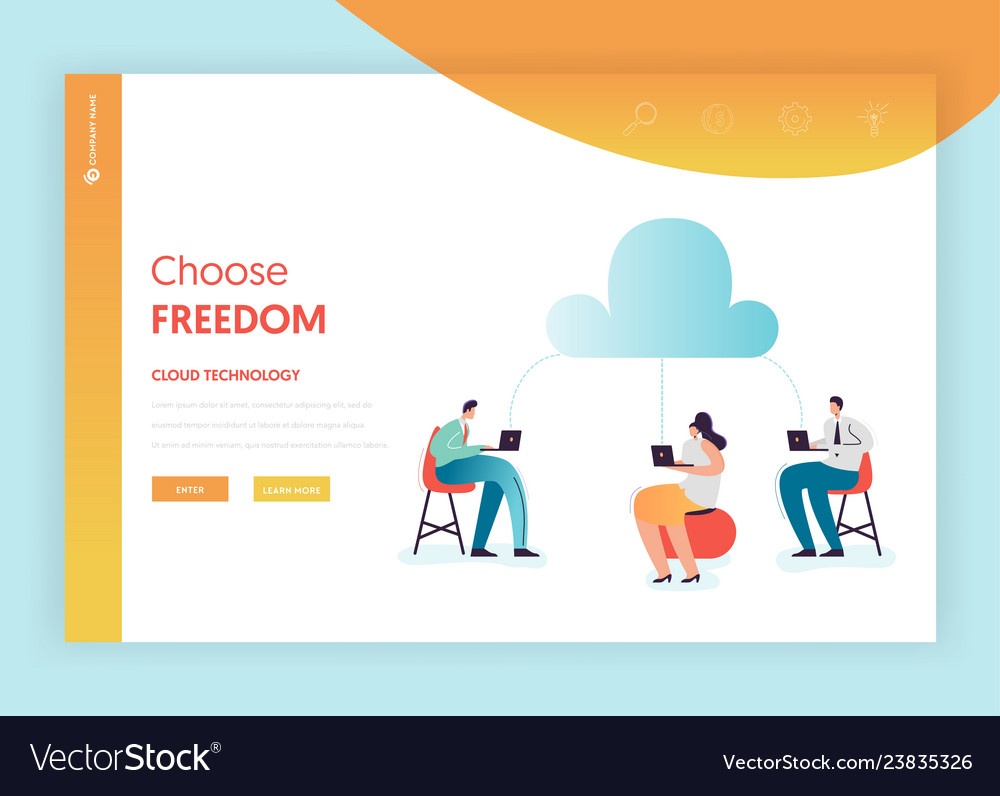 Cloud data storage technologies landing page