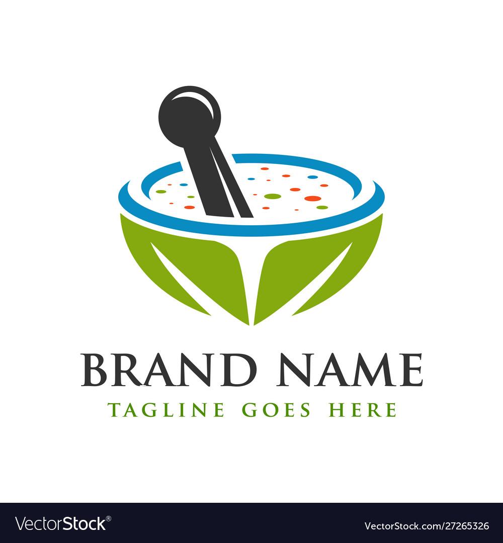 Herbal medicine herb logo design