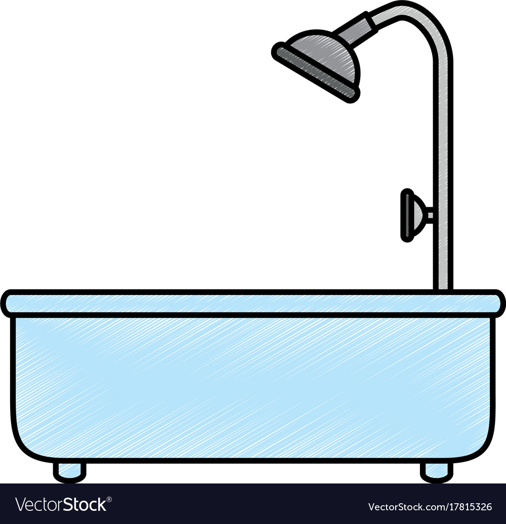 Home bathtub isolated icon Royalty Free Vector Image