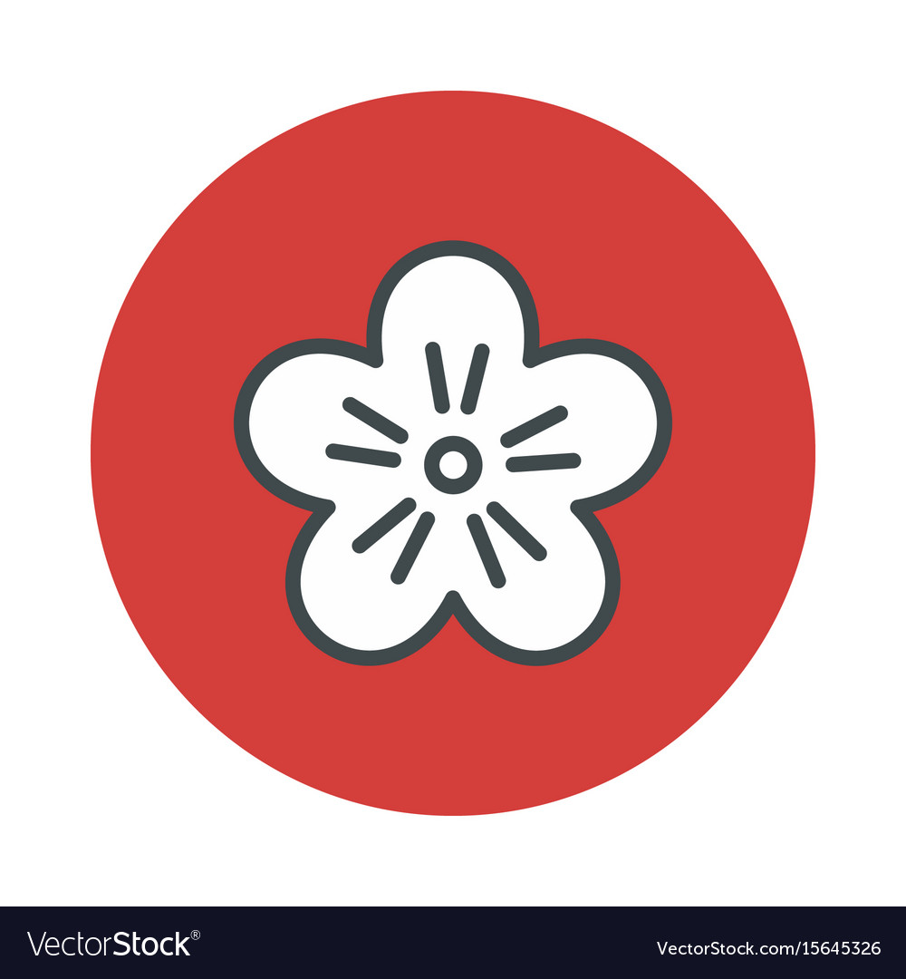 Japan flower sakura icon isolated on white