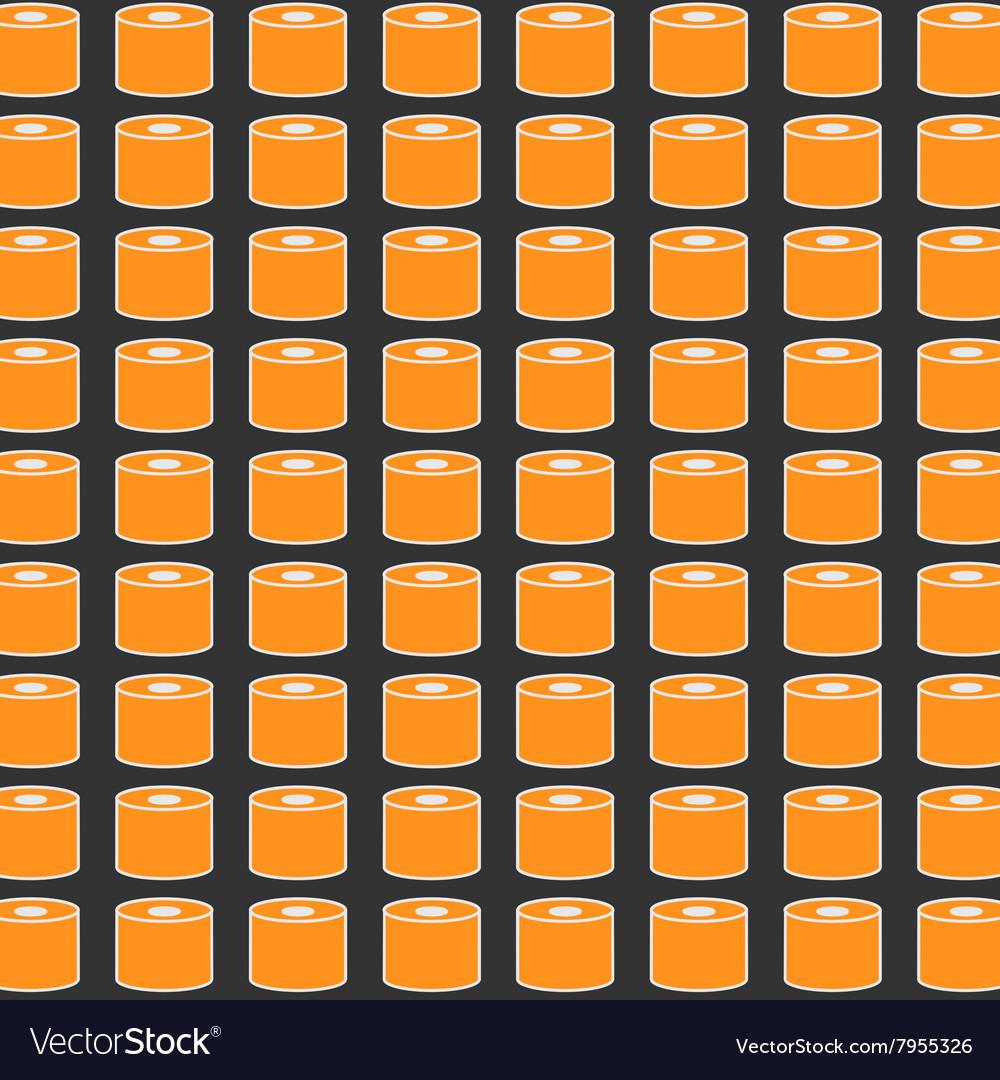 Sushi pattern on dark background flat style