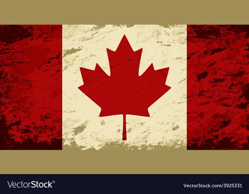 Canadian flag Grunge background