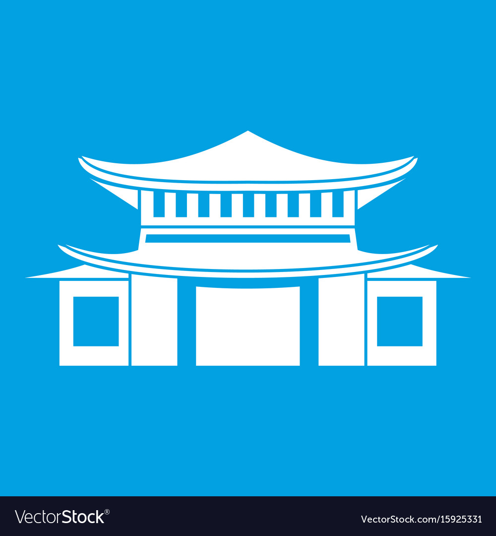 Chinese icon white vector image
