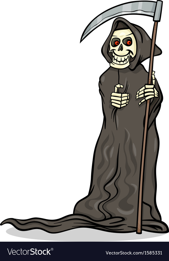 Death skeleton cartoon