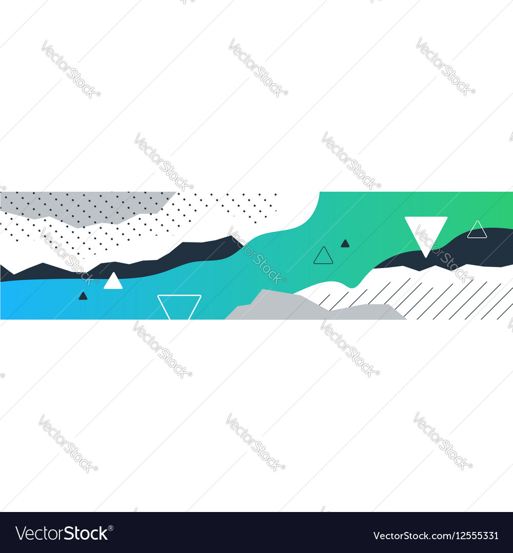 Decorative template for background horizontal vector image