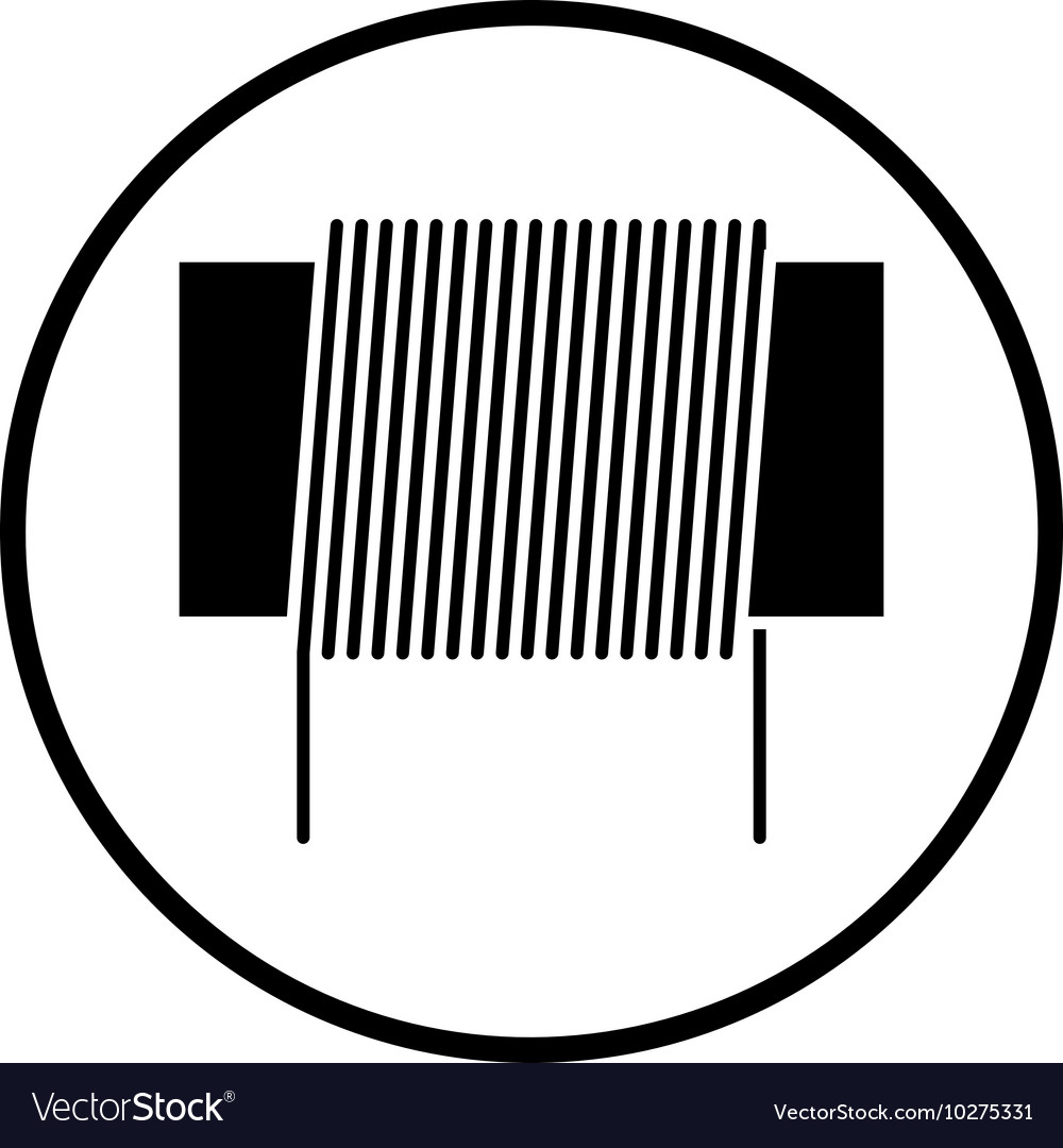 Inductor Coil Icon Royalty Free Vector Image Vectorstock