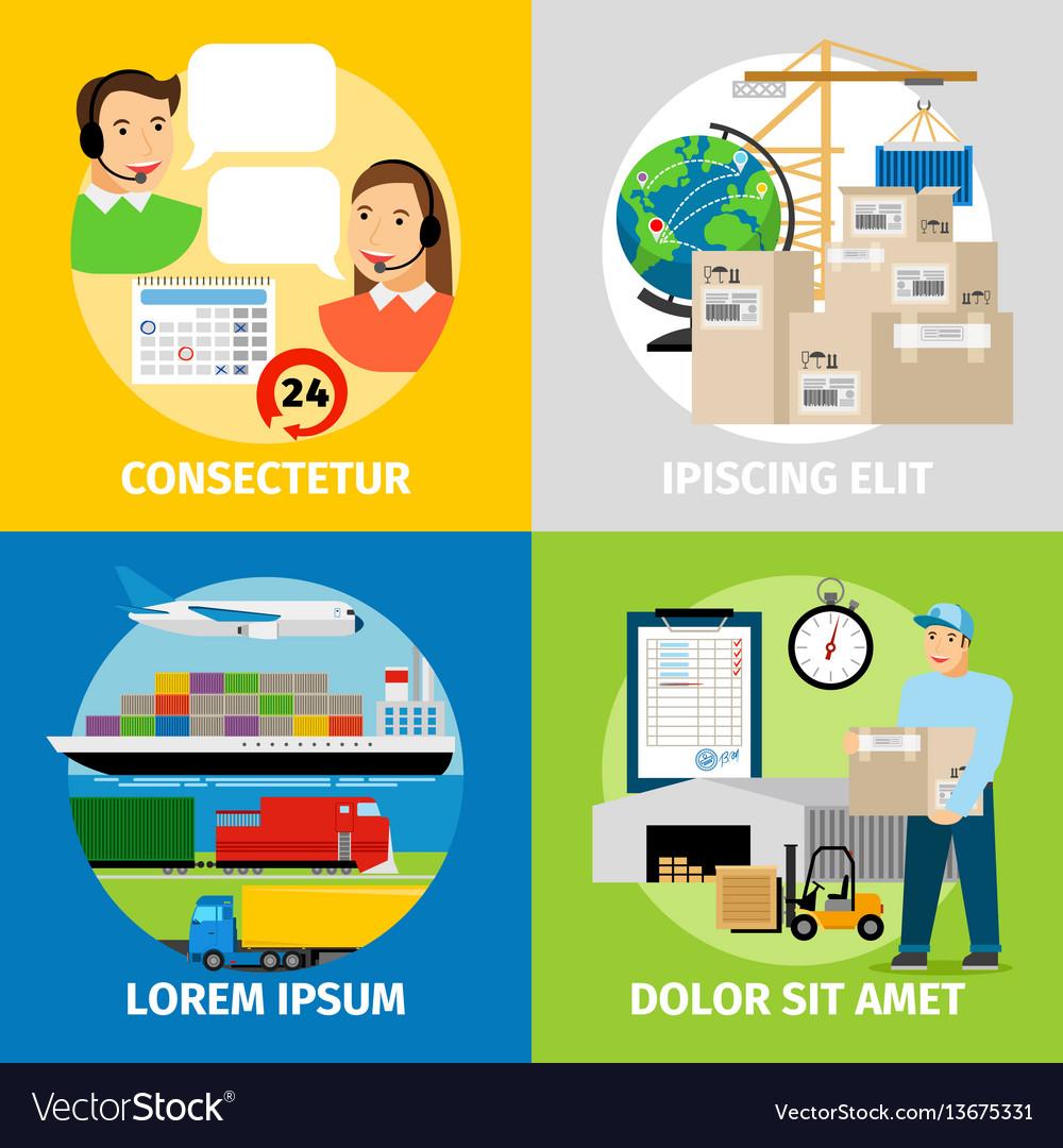Logistics concepts worldwide logistic network