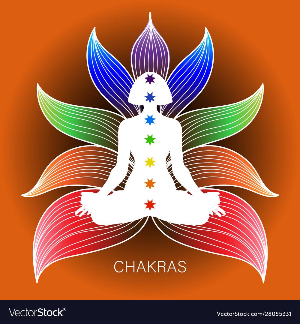 Meditating human in lotus pose yoga