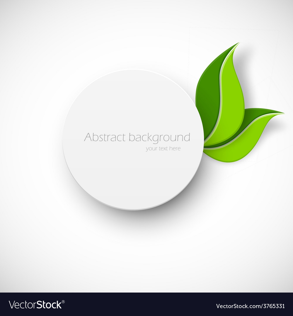 Paper white circle with leaves