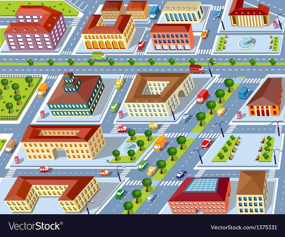 Retro city vector image
